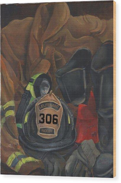 Fireman Commission  Wood Print
