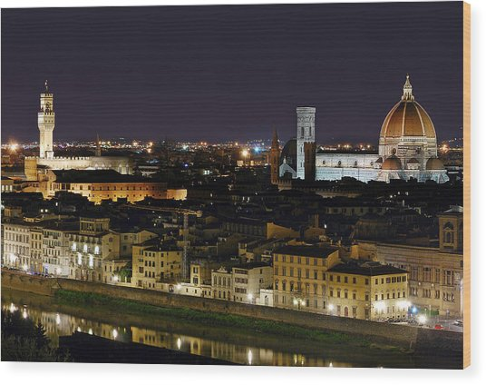 Firenze Skyline Wood Print