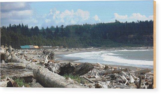 First Beach La Push Wood Print