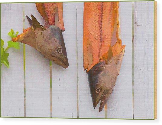 Fish Heads Wood Print
