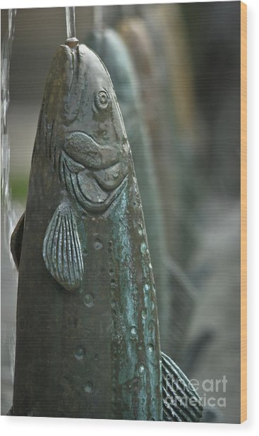 Fish Up Wood Print by David Taylor