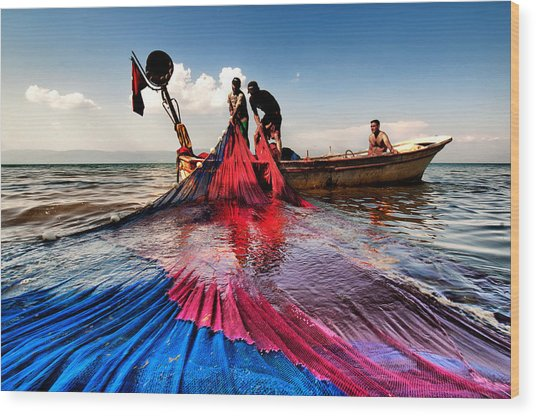 Fishing - 11 Wood Print