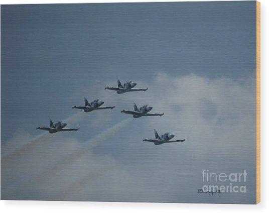 Five Man Formation Wood Print
