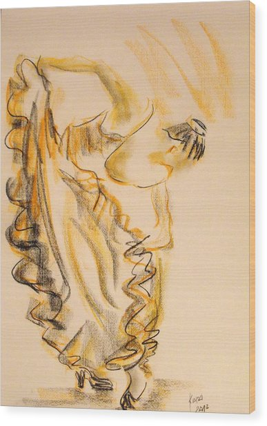 Flamenco Dancer 2 Wood Print