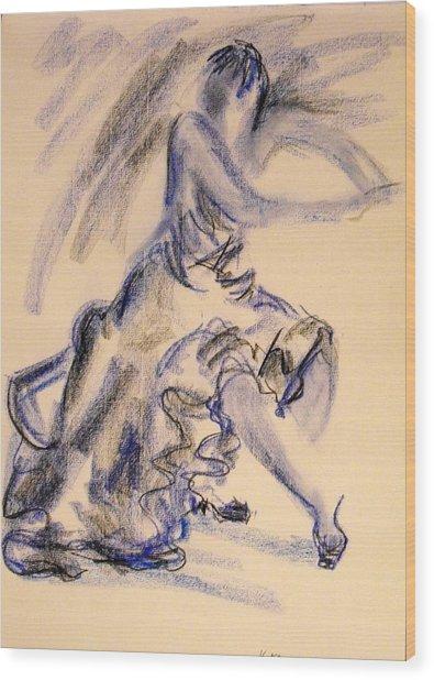 Flamenco Dancer 3 Wood Print