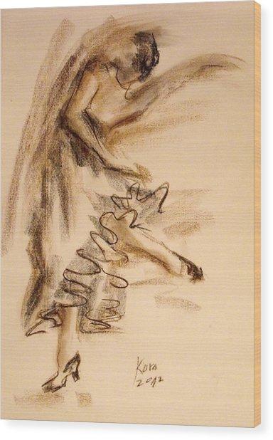 Flamenco Dancer 5 Wood Print