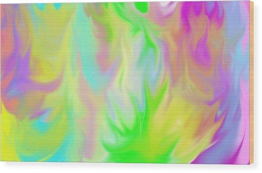 Flames Wood Print by Rosana Ortiz