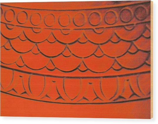 Flaming Arches Wood Print by