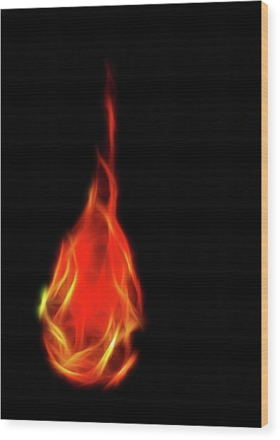 Flaming Tear Wood Print