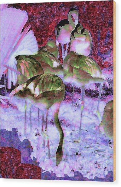 Flamingotasia Wood Print
