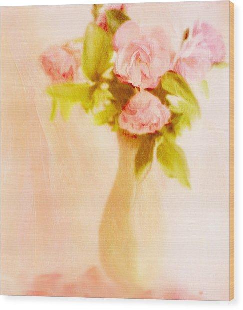 Fleurs Pastel Wood Print