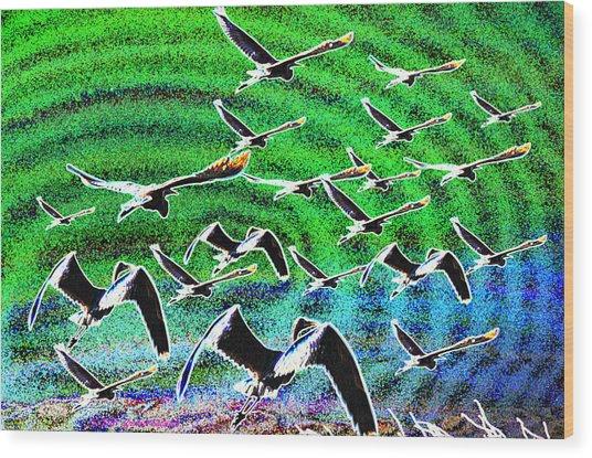 Flight Into Oblivion Wood Print