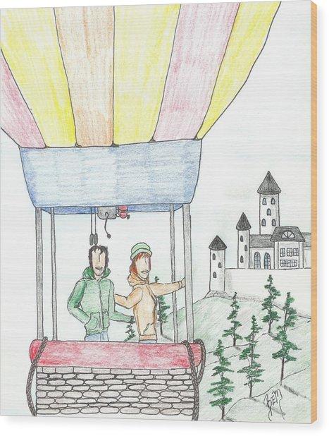 Flight Of Fancy No. Two - Sketch Wood Print by Robert Meszaros