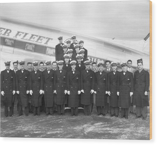Flight Stewards Wood Print by Archive Photos