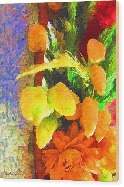 Floral Delights 2095 Wood Print by Maciek Froncisz