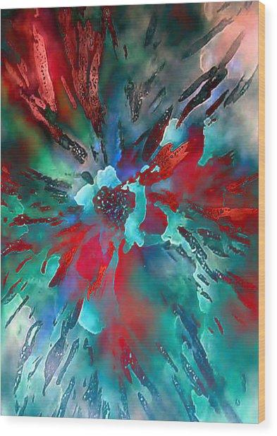 Floral Eruption Wood Print by AnneLise McCoy