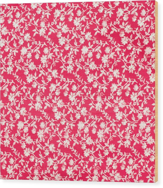 Floral Fabric Wood Print