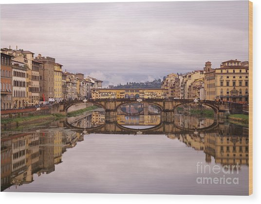 Florence Reflections Wood Print