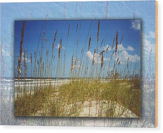Perfect Day At A Florida Beach Wood Print