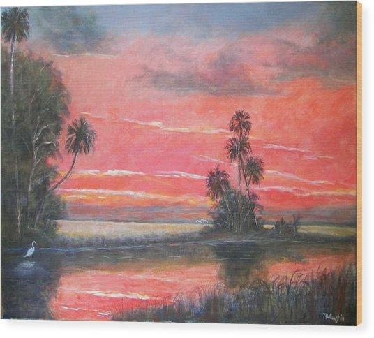 Florida River Scene Wood Print by Mike McCaughin