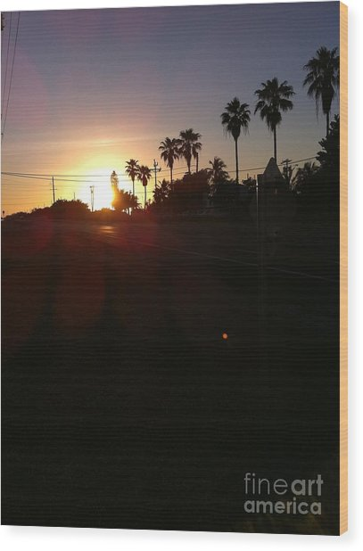 Florida Sunrise Wood Print by Richard Chapman