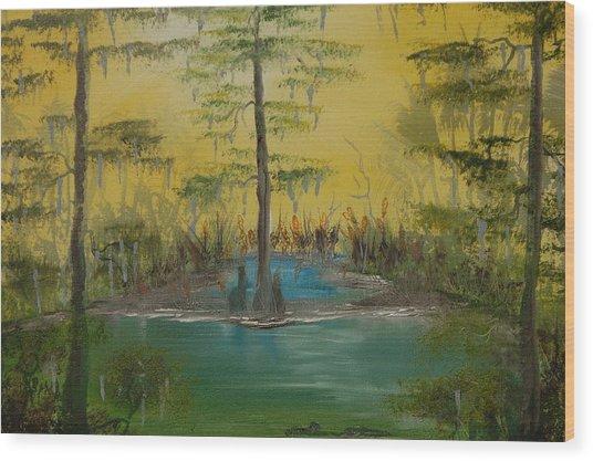 Florida Swamp Wood Print by Katheryn Napier