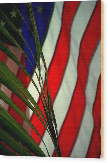 Floridamerica Wood Print