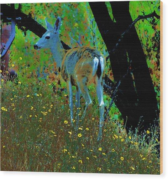 Flower Child Wood Print