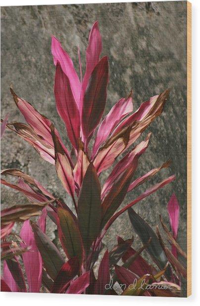 Flower Wood Print by Don Lanier