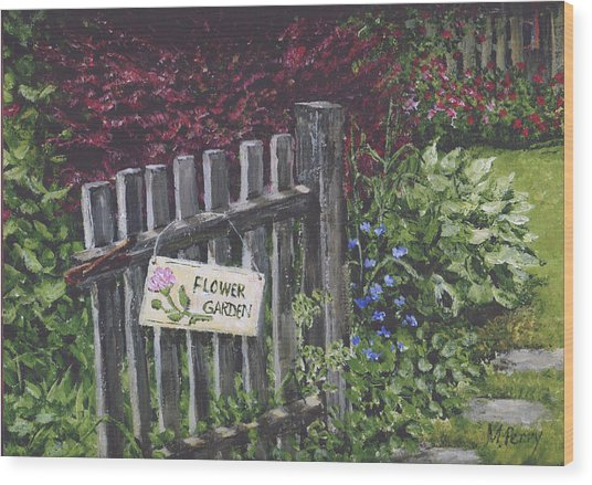 Flower Garden At Fell's Wood Print