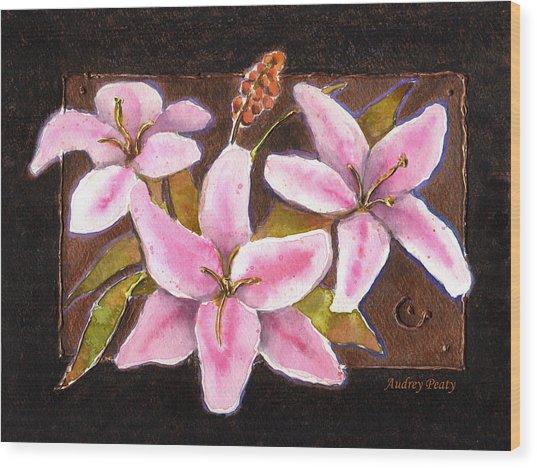 Flower Icon Wood Print