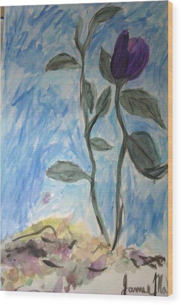 Flower Wood Print by Jamie Mah