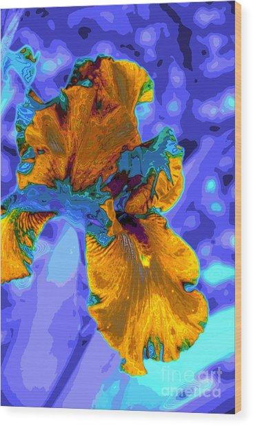 Flower Moderna Wood Print by Rick Bragan
