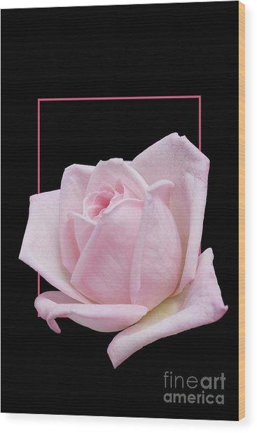Flowerin Frame -10 Wood Print