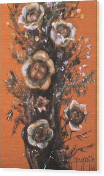 Flowers On Tree 1964 Wood Print