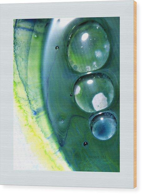 Fluidism Aspect 163 Frame Wood Print