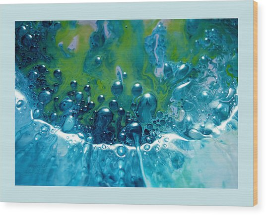 Fluidism Aspect 52 Frame Wood Print