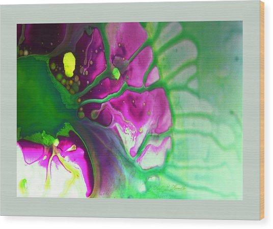 Fluidism Aspect 524 Frame Wood Print