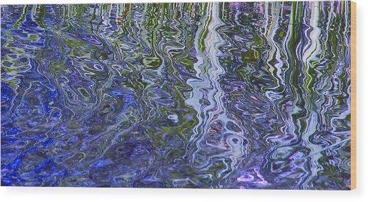 Fluidity Blue Wood Print