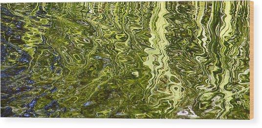 Fluidity Green Wood Print