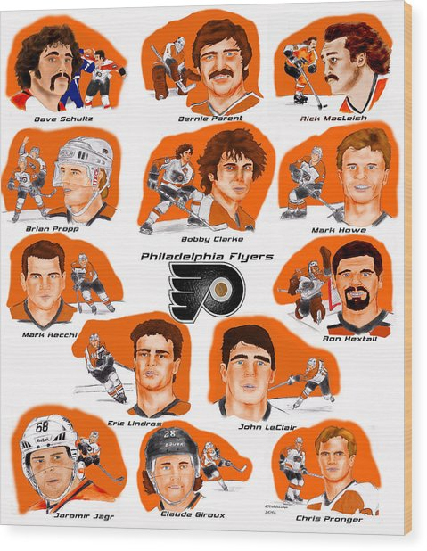 Flyer Greats In Color Wood Print