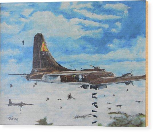 Flying Fortresses Wood Print