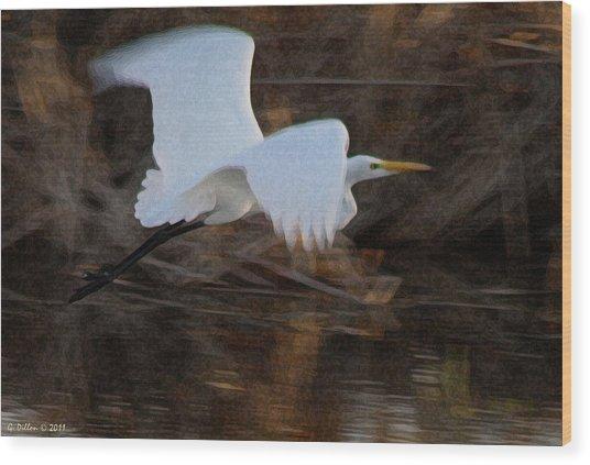 Flying Low  Wood Print