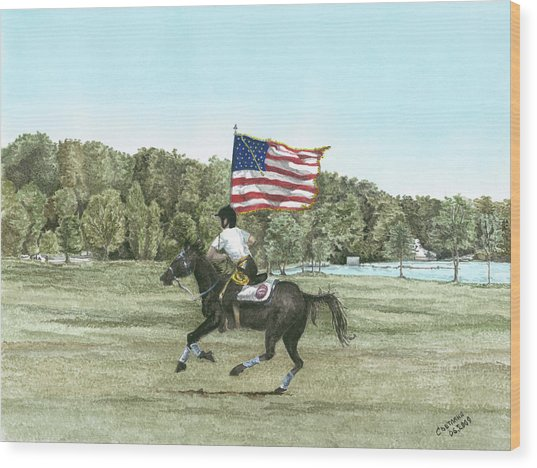 Flying The Colors At A Gallup Wood Print