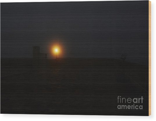 Fog In San Salvador Wood Print