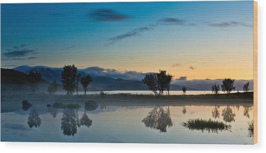 Fog Over The Pond IIi Wood Print