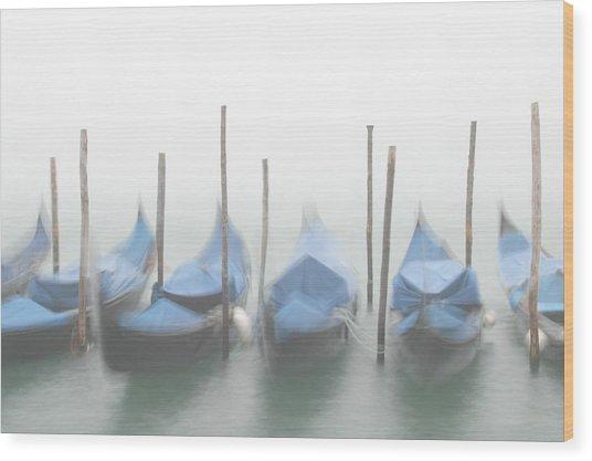 Foggy Morning Grand Canal Wood Print