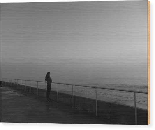 Foggy Thoughts Wood Print by David Mcchesney