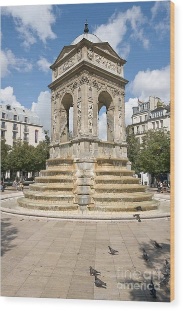 Fontaine Des Innocents I Wood Print by Fabrizio Ruggeri