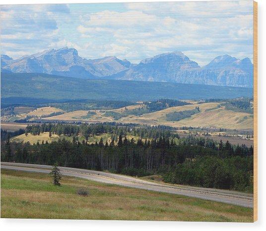 Foothills West Of Calgary Wood Print